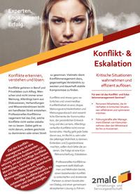Produktblatt Konflikt- & Eskalationsmanagement